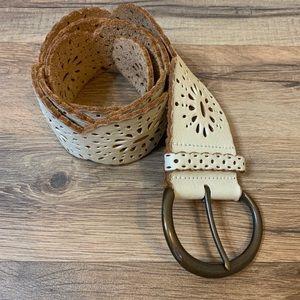 Fossil Leather Lasercut Boho Belt
